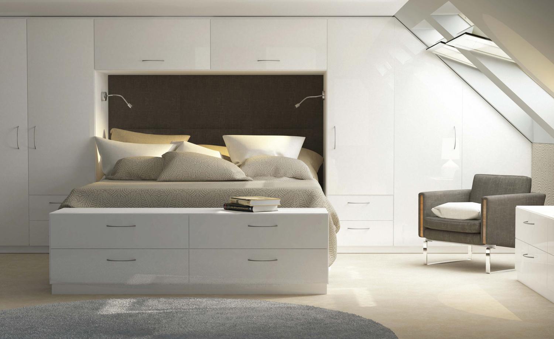 capri white gloss bedroom